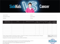 Heatwave for SickKids Pledge Form